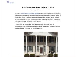 Preserve NY Grant 2019