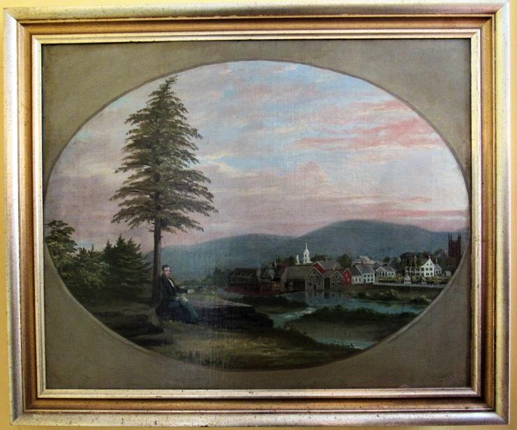 Zadock Pratt Oil Painting by Amos Hamlin